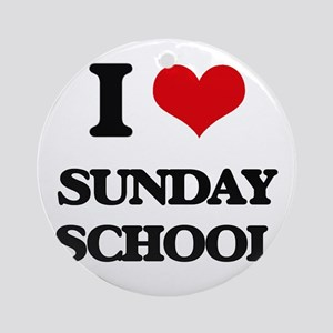 I love Sunday School Ornament (Round)